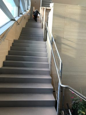 Hunters Point Public Library, Queens, New York, by Steven Holl Architects stairs - Shameful architecture scandal