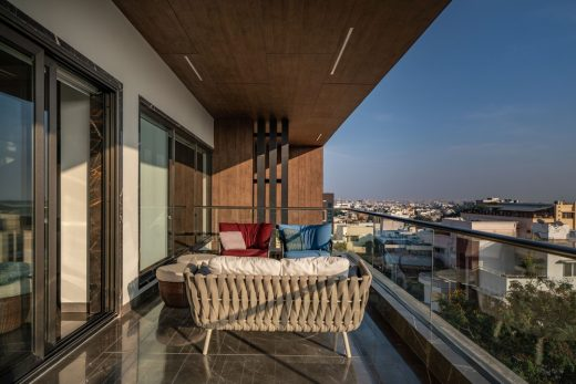 Overlapping Volumes Apartment Hyderabad India