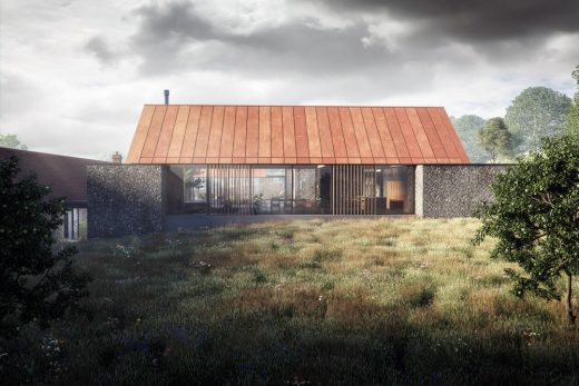 The Barns home in southern England