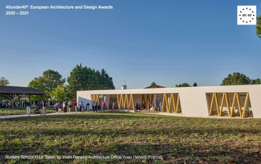 Nursery School in Le Taillan by Yvain Renard/Architecture Office Yvain Renard - Europe 40 Under 40 Awards 2020-2021