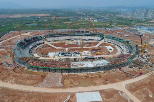 Quzhou Sports Campus Stadium construction by MAD