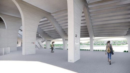 Quzhou Sports Campus Stadium building by MAD Architects in China