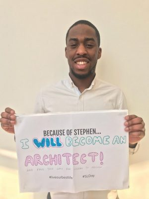 Shawn Adams, Stephen Lawrence Charitable Trust Alumni