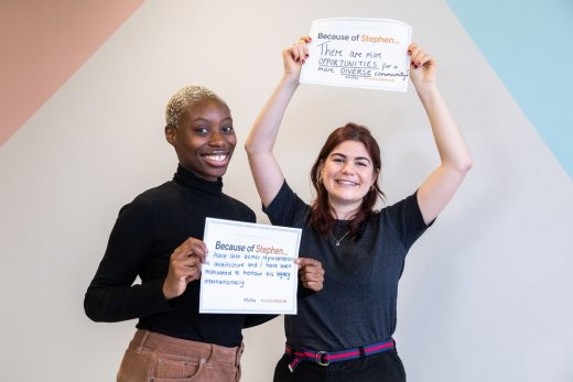 Yasmin Idris and Leyla Hepsaydir,both part of The SLCT's Connecting People and Places project