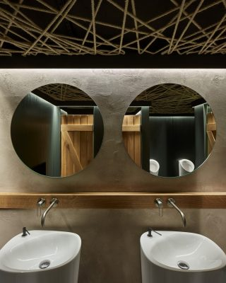Olomouc Steak Restaurant bathroom mirrors washroom
