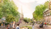 Redcliffe Way Bristol shared space landscape