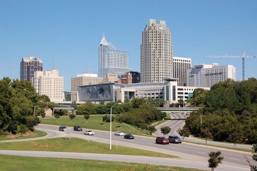 Downtown Raleigh from Western Boulevard Overpass - Raleigh Roofers post
