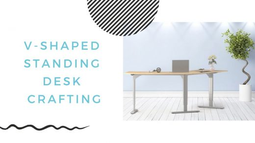 Easy Crafting of a V-Shaped Standing Desk