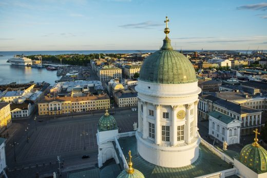 Helsinki building dome tower