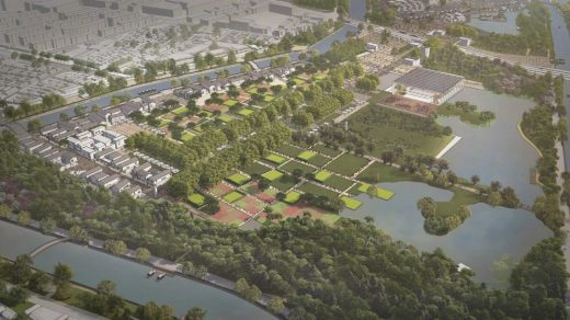 Yangliuqing National Grand Canal Culture Park design by Seung H-Sang