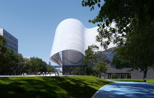 2024 Paris Olympics Aquatic Center building by MAD Architects