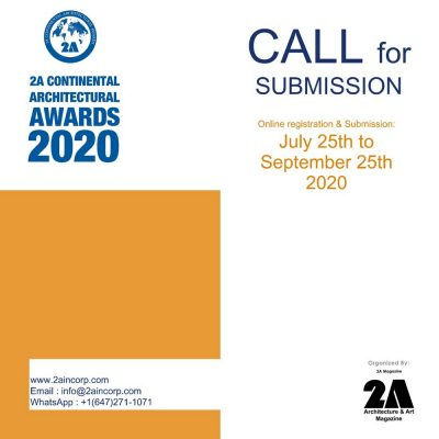 2A Continental Architectural Awards 2020 Open Call