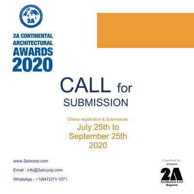 Open Call - 2A Continental Architectural Awards 2020