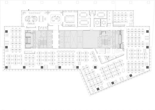Aedas Architects Singapore offices plan layout