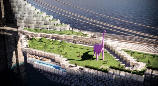 Brooklyn Bridge Competition Entry Design by Daniel Gillen