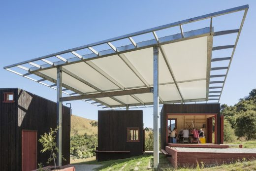Longbush Ecosanctuary Welcome Shelter in Gisborne