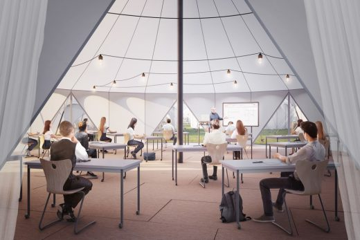 Pop-up Teaching for Outdoor Learning, Curl La Tourelle Head Architecture