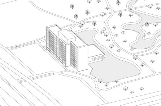 Rembrandt Park One building in Amsterdam West diagram