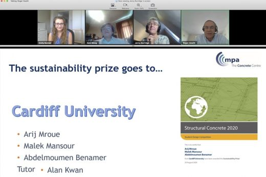 2020 Structural Concrete Student Competition Sustainability Prize
