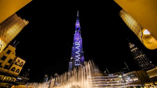 Burj Khalifa tower Dubai at night