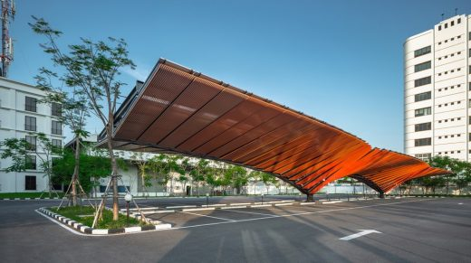 Car Parking Solar Roof Bangkok Thailand Architecture And Design