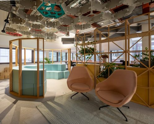 Cundall Birmingham Offices breakout areas