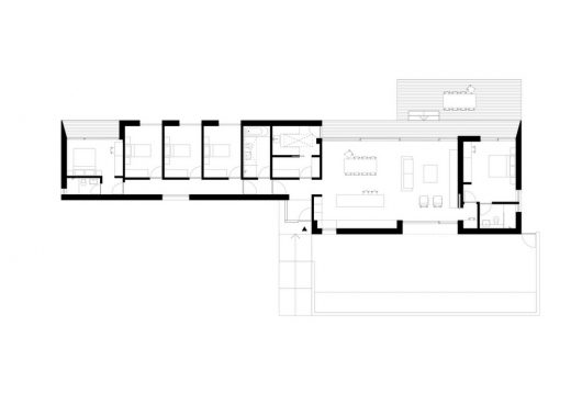 Island Rest house design by Strom Architects floor plan