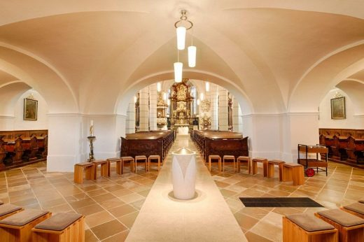 Mank Parish church in Melk, Austria interior design