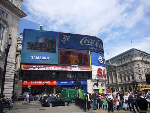 Piccadilly Circus London lights