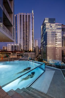 The Independent Building in Austin, Texas swimming pool