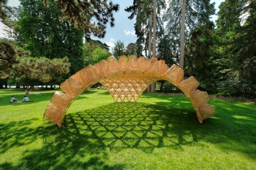 Wicker Pavilion Annecy building structure