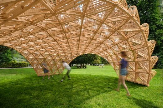 Wicker Pavilion Annecy structure design