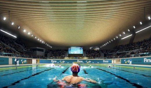 2024 Paris Olympics Aquatics Centre in Saint-Denis