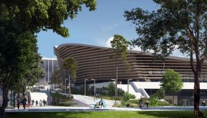 2024 Paris Olympics Aquatics Centre building