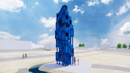 Blauw Observatory Tower Amsterdam