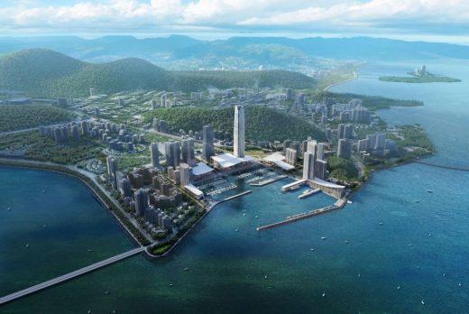 Jiuzhou Bay Waterfront Neighborhood Zhuhai by SOM