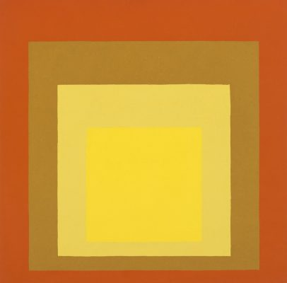 Josef Albers, Homage to the Square art work at Nancy and Rich Kinder Building, MFAH