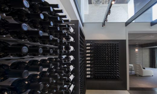 House in Beverly Hills wine cellar bottles store