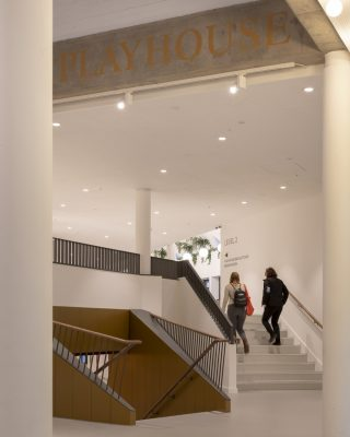 Leeds Playhouse building stairs design