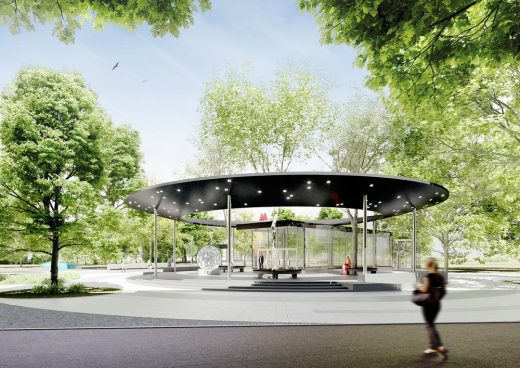 Klenovy Bulvar 2 Metro Station design by Consortium led by Buro Vozduh
