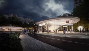 Moscow Metro Design Competition - Klenoviy Bulvar 2 Metro Station winner