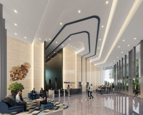 Rochester Commons Singapore office lobby