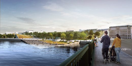 Tuchkov Buyan Park Saint Petersburg design by BIG-Bjarke Ingels Group + BuroHappold Engineering