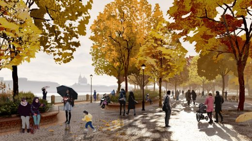 Tuchkov Buyan Park Saint Petersburg design by Studio 44 and West 8