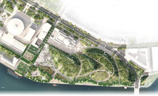 Tuchkov Buyan Park Saint Petersburg by Studio 44 and West 8 plan
