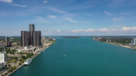 Detroit Waterfront Michigan water