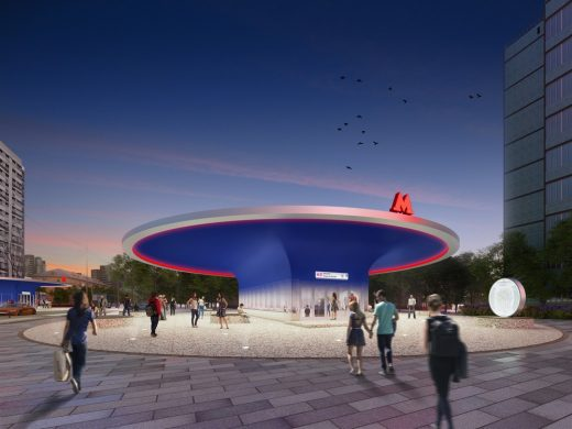 Moscow Metro Design Competition 3rd Prize design by Architects of Invention