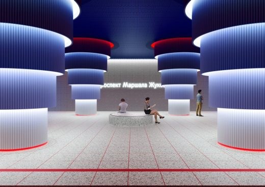 Moscow Metro Design Competition 3rd Prize