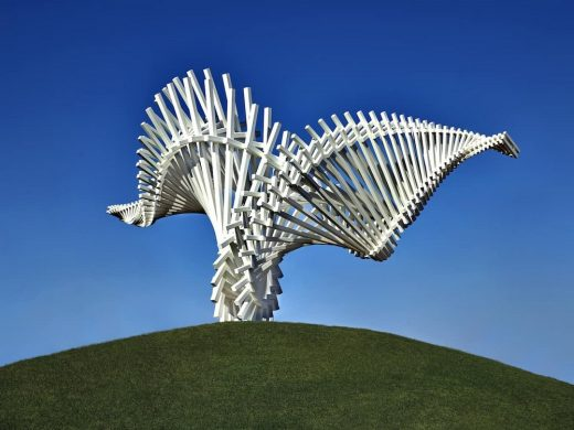 DRIFT Dallas sculpture by Gerry Judah in Texas USA
