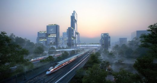 Guangming Hub high-speed rail link China
